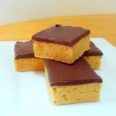 One Perfect Bite: Reese's-Like Peanut Butter Bars - A No-Bake Treat
