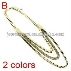 Aliexpress.com : Buy New popular pendant necklace,Triple Gold Chain Necklace, Vintage Large Thick Chain Necklace jewelry, NL 1703 from Reliable chain necklace suppliers on Well Done Fashion Jewelry Co.,Ltd. $8.16