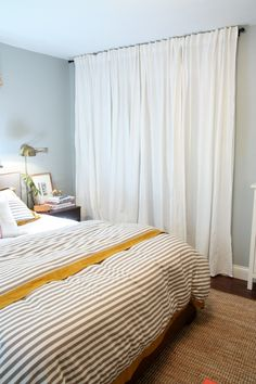 """closet curtains- 118"""" for the small bedrooms closets instead of doors."""