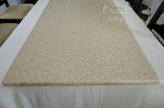 Wrapping Craft Paper Table Runner Decoration  Great way to use all of that leftover paper