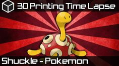 3D Printing Time Lapse | Red Shuckle Pokemon | Airwolf3D HDX 3D Printer