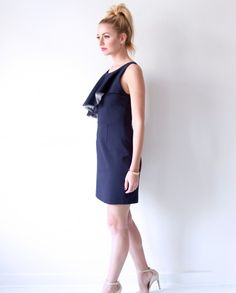 The Camilyn Beth Nellie Dress in Navy.  | SS16