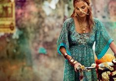 turquoise Boho dress