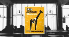 Campagne de communication pour Radio Rino | Fictif #affiche #graphisme #jungle