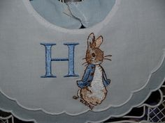 A personal favorite from my Etsy shop https://www.etsy.com/listing/261925608/heirloom-peter-rabbit-personalized-first