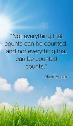 Albert Einstein with true words which very much apply to operating a business