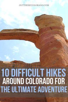 Here are 10 hard hikes for the experienced Colorado Adventurer. #OutThereColorado #Travel #Colorado #ColoradoVacation #ColoradoSprings #Denver #Breckenridge #RockyMountainNationalPark #Mountains #Adventure #ColoradoFall #ColoradoPhotography #ColoradoWildlife #Mountains #Explore #REI #optoutside #Hike #Explore #Vacation Colorado Hiking, Colorado Springs, Rocky Mountain National Park, Best Hikes, Hiking Gear, Adventurer, Park City, The Locals, Denver