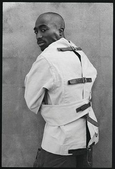 Tupac Shakur in by Shawn Mortensen, Cam Kirk 2pac, Tupac Shakur, Skin Girl, Tupac Wallpaper, Tupac Makaveli, Tupac Pictures, Straight Jacket, Best Rapper, American Rappers
