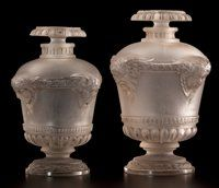 FROM THE ESTATE OF SHIRLEY JACOBS ALTER  R. LALIQUE Two perfume bottles for 'Bouquet de Faunes' fragrance by
