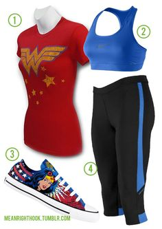 Wonder Woman Outfit- I will totally get that 225lb dead lift I've been chasing after if I wear this.  Right?