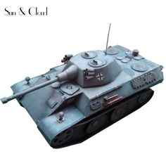 1:35 3D Germany VK 1602 Leopard Tank Paper Model Second World War Assemble Hand Work Puzzle Game DIY Kids Toy