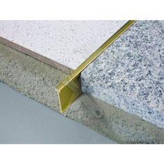 TERRAZZO Decrative Divider Brass Length By Schluter from Premium Tile Trim, a leading supplier of Tile Trim in the UK. Terrazzo Flooring, Bathroom Flooring, Concrete Floors, Kitchen Flooring, Basement Flooring, Travertine Bathroom, White Flooring, Modern Flooring, Granite Flooring