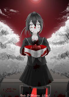 Yandere Simulator/ The Old Me Animes Yandere, Yandere Anime, Loli Kawaii, Kawaii Anime, Yandere Simulator Fan Art, Images Kawaii, Yendere Simulator, Ayano X Budo, Blood Anime