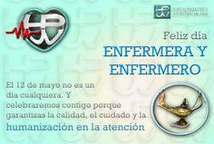frases y postales para el dia de la enfermera Frases, Happy Birth Day, May 12, Colombia, Important Dates, Massage