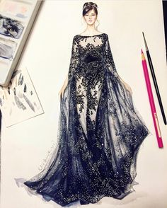 Black on sheer never looked better   Thank you @vivartcastle for this beautiful illustration