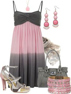 """Pink/Grey"" by amo-iste ❤ liked on Polyvore"