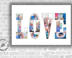 Letters Custom Photo Collage. Photography Storyboard Templates. Valentine's Gift. Birthday Gift. Anniversary gift. Wedding gift