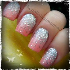 DIY Dripping in Diamonds /Nails