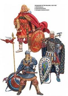 Varangian Guards were Viking soldiers who woked for the Byzantine Emperor in Constantinople.