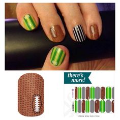 Jamberry nails End Zone - There's more https://sharlaschoen.jamberry.com/shop