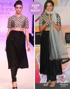 Ramp to Reality: Neha Dhupia Flaunts Her Toned Abs in Payal Singhal