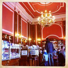 Inside the Wedel chocolate shop & café