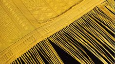 Spider silk: The threads that make up this tapestry, which was hand-woven in Madagascar over the course of 4 years, were produced by golden orb spiders… more than a million of them. The NPR story has more details.