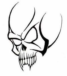 Tribal Skull Tattoo Design Idea ~ http://tattooeve.com/popular-skull-tattoos/ Tattoo Design