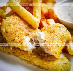 Dorsz w ostrym cieście Fish Dishes, Seafood Dishes, Dinner Is Served, Chicken Wings, Recipies, Lose Weight, Food And Drink, Keto, Cooking