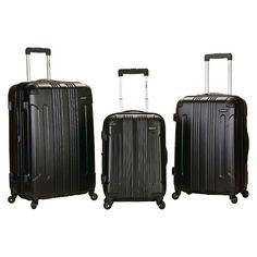 Rockland Sonic 3pc ABS Luggage Set : Target