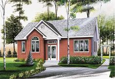 Traditional House Plan: 960 sq ft