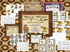 Free Wild West Pre-k Math Unit