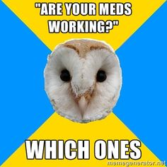 Welcome to f*ck yeah bipolar owl