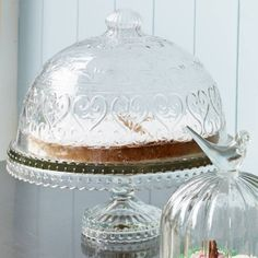 Pressed Glass Cake Stand - View All Kitchen - Kitchen Cake Pops, Cake Pop Stands, Cake Stand With Cover, Cake Stand Decor, Cake Carrier, Shops, Pedestal Cake Stand, Cupcakes, Plate Stands