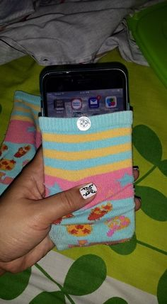 I just created a fone pouch out of a old socks ☺️