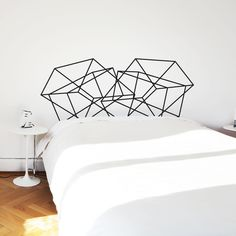 graphic headboard wall decal