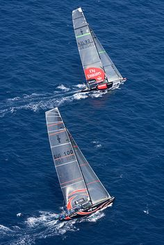 Alinghi & Team Emirates New Zealand Racing in 32nd America's Cup in Valencia Spain, July of 2007