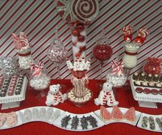 "Photo 1 of 8: Red and White, Candy Cane / Christmas/Holiday ""Office Candy and Dessert Buffet"" 