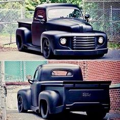 Vintage Trucks Muscle This murdered out Ford truck has way more than meets the eye. - Trucks - A post by Jim Karnes Rat Rods, Classic Ford Trucks, Classic Cars, Classic Style, Custom Trucks, Custom Cars, Chevy Trucks, Pickup Trucks, Lifted Trucks