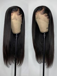 Elva Hair Pre Plucked Silky Straight Brazilian Remy Hair 370 Lace Wigs With Swiss Lace