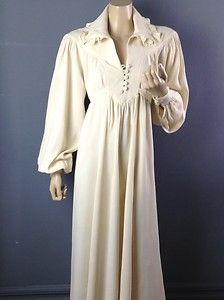 OSSIE CLARK VINTAGE CREAM MOSS DRESS.... One day, I will own one of these!