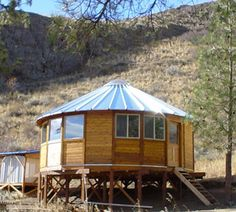 """So, when we find our Land, thinkin Bill can build us a YURT to live in while we are building the """"real house""""...Beautiful wooden yurts by Smiling Wood Yurts"""
