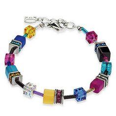 Signature Cube Bracelet, Cobalt, Multi, Coeur De Lion Jewelry $105