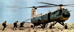 A Bristol ( later Westland ) Belvedere of 26 Squadron Royal Air Force evacuates British troops. 26 Squadron were based at Aden during the Radfan crisis of the 1960s and also inserted Royal Marines from HMS Centaur into Tanganyika during the 1963 rebellion
