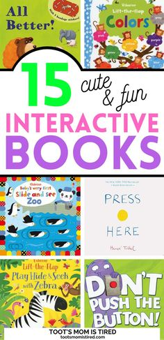 15 Best Interactive Books for Toddlers and Preschoolers | best books for playing with kids, fun books to read with preschoolers. Toddler Preschool, Preschool Activities, Two Years Old Activities, Interactive Books For Kids, Everything Preschool, Tired Mom, Toddler Books, Best Books To Read, Three Year Olds