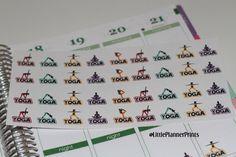 44 Yoga Stickers Erin Condren Planner by LittlePlannerPrints