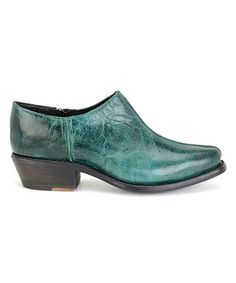 Green Quinn Leather Bootie