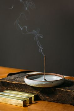wheel thrown incense plate check out the incense type for variating hole size