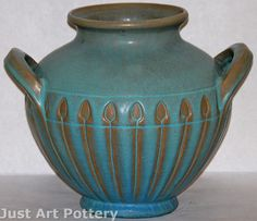 Van Briggle Pottery 1917 Handled Vase (Shape 808) from Just Art Pottery