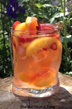 peach sangria; my go-to summer drink!